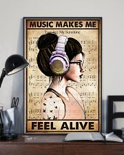 MUSIC MAKES ME FEEL ALIVE 11x17 Poster lifestyle-poster-2