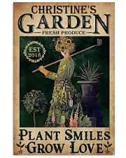PLANT SMILES GROW LOVE - CUSTOM NAME 11x17 Poster front