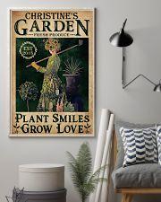 PLANT SMILES GROW LOVE - CUSTOM NAME 11x17 Poster lifestyle-poster-1