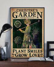 PLANT SMILES GROW LOVE - CUSTOM NAME 11x17 Poster lifestyle-poster-2