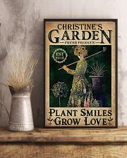 PLANT SMILES GROW LOVE - CUSTOM NAME 11x17 Poster lifestyle-poster-3