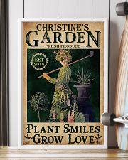 PLANT SMILES GROW LOVE - CUSTOM NAME 11x17 Poster lifestyle-poster-4