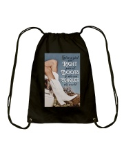 GIVE A GIRL THE RIGHT PAIR OF BOOTS Drawstring Bag tile