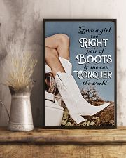 GIVE A GIRL THE RIGHT PAIR OF BOOTS 11x17 Poster lifestyle-poster-3