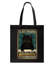 PLAY PIANO BECAUSE MURDER IS WRONG Tote Bag tile