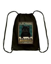 PLAY PIANO BECAUSE MURDER IS WRONG Drawstring Bag tile
