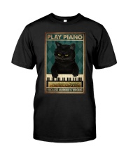 PLAY PIANO BECAUSE MURDER IS WRONG Premium Fit Mens Tee tile