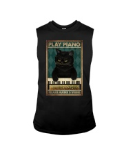 PLAY PIANO BECAUSE MURDER IS WRONG Sleeveless Tee tile