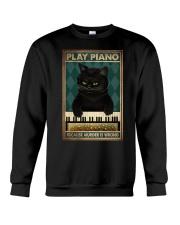 PLAY PIANO BECAUSE MURDER IS WRONG Crewneck Sweatshirt tile