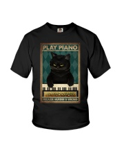 PLAY PIANO BECAUSE MURDER IS WRONG Youth T-Shirt tile