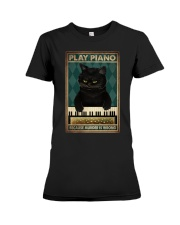 PLAY PIANO BECAUSE MURDER IS WRONG Premium Fit Ladies Tee tile