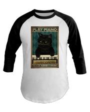 PLAY PIANO BECAUSE MURDER IS WRONG Baseball Tee tile