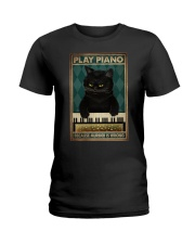 PLAY PIANO BECAUSE MURDER IS WRONG Ladies T-Shirt tile