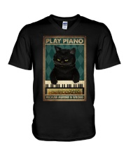 PLAY PIANO BECAUSE MURDER IS WRONG V-Neck T-Shirt tile