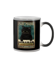 PLAY PIANO BECAUSE MURDER IS WRONG Color Changing Mug tile