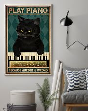 PLAY PIANO BECAUSE MURDER IS WRONG 11x17 Poster lifestyle-poster-1
