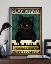 PLAY PIANO BECAUSE MURDER IS WRONG 11x17 Poster lifestyle-poster-2