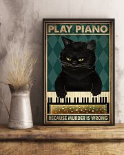 PLAY PIANO BECAUSE MURDER IS WRONG 11x17 Poster lifestyle-poster-3