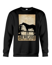 AND SHE LIVED HAPPILY EVER AFTER Crewneck Sweatshirt tile