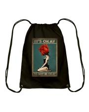 IT'S OKAY TO NOT BE OKAY Drawstring Bag tile