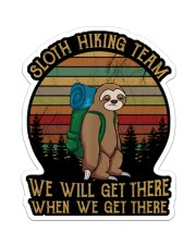 SLOTH HIKING TEAM Sticker - Single (Vertical) front