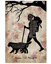HIKING GIRL AND DOG - CUSTOM NAME 11x17 Poster front