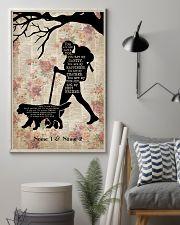 HIKING GIRL AND DOG - CUSTOM NAME 11x17 Poster lifestyle-poster-1