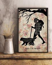 HIKING GIRL AND DOG - CUSTOM NAME 11x17 Poster lifestyle-poster-3