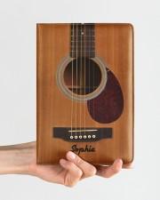 GUITAR NOTEBOOK - CUSTOM NAME Medium - Leather Notebook aos-medium-leather-notebook-lifestyle-front-01