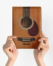 GUITAR NOTEBOOK - CUSTOM NAME Medium - Leather Notebook aos-medium-leather-notebook-lifestyle-front-02