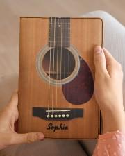GUITAR NOTEBOOK - CUSTOM NAME Medium - Leather Notebook aos-medium-leather-notebook-lifestyle-front-04