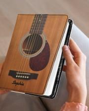 GUITAR NOTEBOOK - CUSTOM NAME Medium - Leather Notebook aos-medium-leather-notebook-lifestyle-front-05