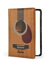 GUITAR NOTEBOOK - CUSTOM NAME Medium - Leather Notebook front
