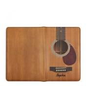 GUITAR NOTEBOOK - CUSTOM NAME Medium - Leather Notebook full