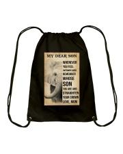MY DEAR SON Drawstring Bag tile