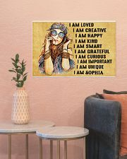 HIPPIE GIRL - I AM  - CUSTOM NAME 24x16 Poster poster-landscape-24x16-lifestyle-22
