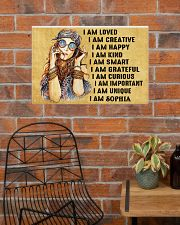 HIPPIE GIRL - I AM  - CUSTOM NAME 24x16 Poster poster-landscape-24x16-lifestyle-24
