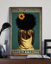 TODAY ONLY HAPPEN ONCE MAKE IT AMAZING 11x17 Poster lifestyle-poster-2