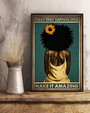 TODAY ONLY HAPPEN ONCE MAKE IT AMAZING 11x17 Poster lifestyle-poster-3