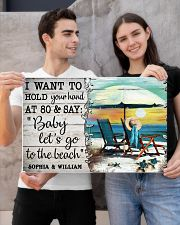FAMILY - I WANT TI HOLD YOUR HAND - CUSTOM NAME 24x16 Poster poster-landscape-24x16-lifestyle-21