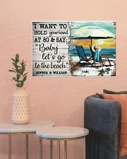 FAMILY - I WANT TI HOLD YOUR HAND - CUSTOM NAME 24x16 Poster poster-landscape-24x16-lifestyle-22
