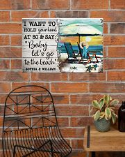 FAMILY - I WANT TI HOLD YOUR HAND - CUSTOM NAME 24x16 Poster poster-landscape-24x16-lifestyle-24