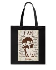 AFRO GIRL - CUSTOM NAME Tote Bag tile