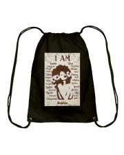 AFRO GIRL - CUSTOM NAME Drawstring Bag tile