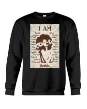 AFRO GIRL - CUSTOM NAME Crewneck Sweatshirt tile