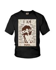 AFRO GIRL - CUSTOM NAME Youth T-Shirt tile