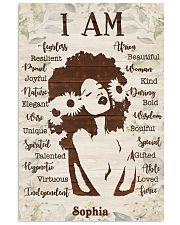 AFRO GIRL - CUSTOM NAME 11x17 Poster front