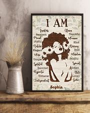 AFRO GIRL - CUSTOM NAME 11x17 Poster lifestyle-poster-3