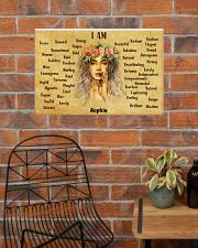 HIPPIE - I AM  - CUSTOM NAME 24x16 Poster poster-landscape-24x16-lifestyle-24