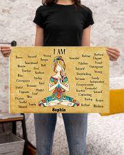 YOGA - I AM  - CUSTOM NAME 24x16 Poster poster-landscape-24x16-lifestyle-20